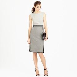 Mixed-tweed sleeveless sheath dress