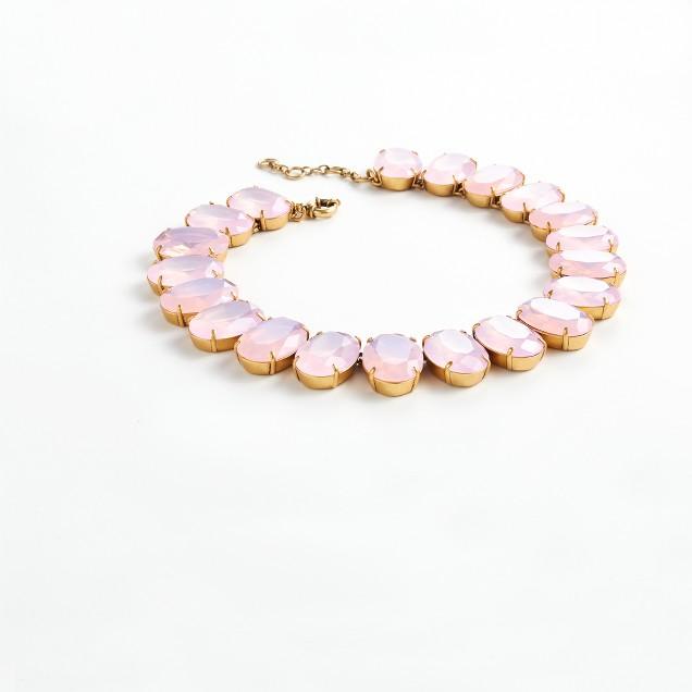 Iced quartz necklace