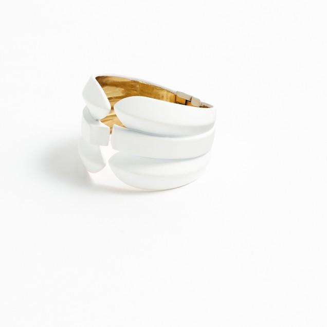 Contoured spike cuff bracelet