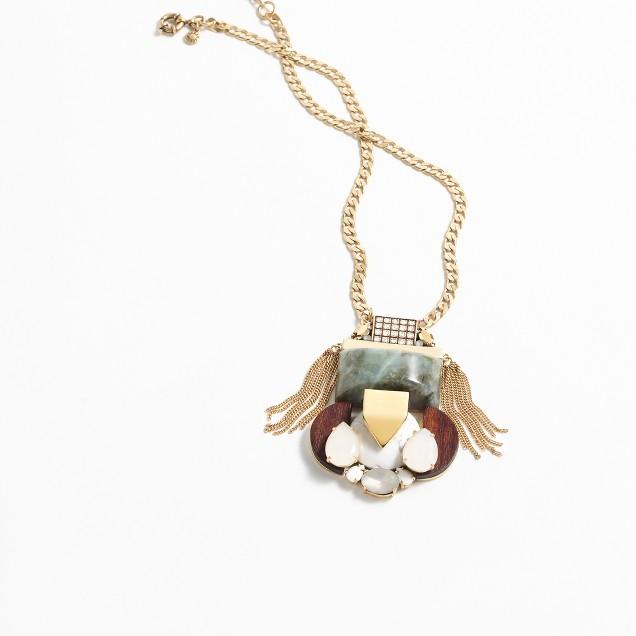 Mixed stone pendant necklace