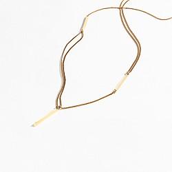 Pavé droplet necklace