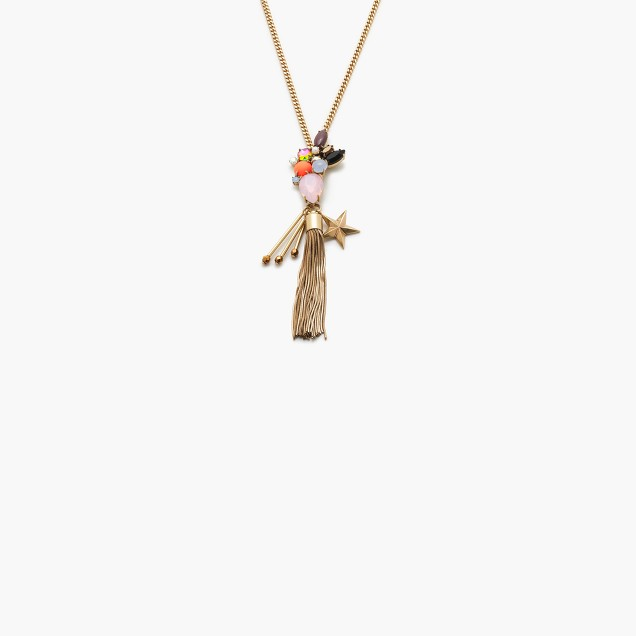 Midsummer tassel pendant necklace