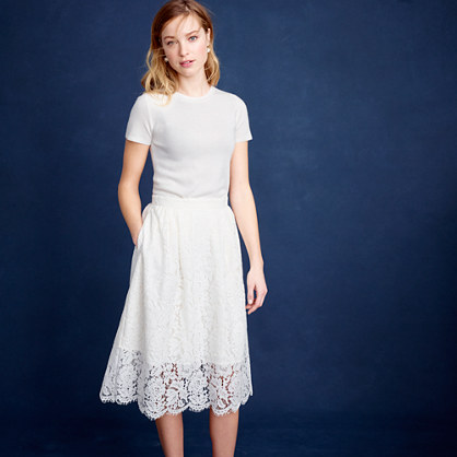 d8be85cd237 Collection floral lace skirt