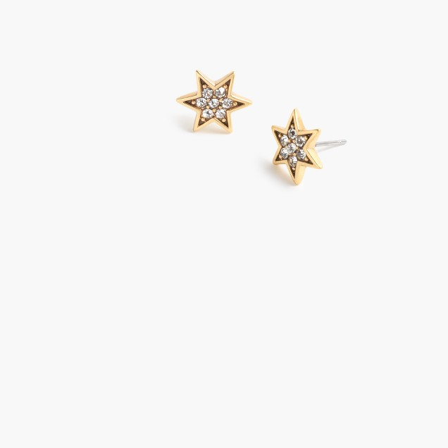 Pavé star earrings