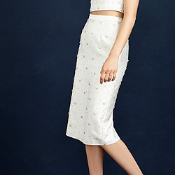 Collection beaded pencil skirt