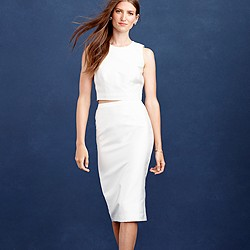 Collection pencil skirt in cotton-silk twill