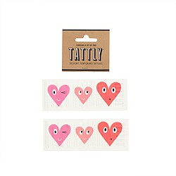 Girls' Tattly® three hearts temporary tattoos