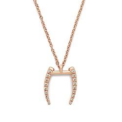 Gabriella Artigas® 14k gold mini signature tusk necklace