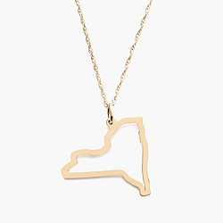 Maya Brenner® 14k gold state necklace