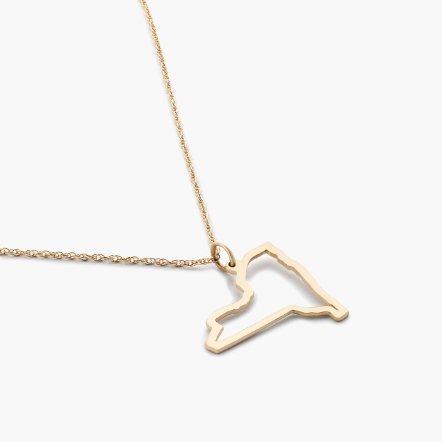 Maya Brenner® 14k gold state necklace