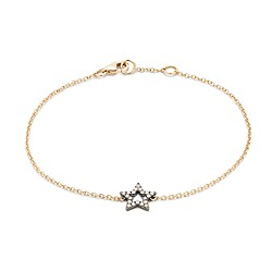 Rosa de la Cruz London™ 18k gold and diamond star bracelet