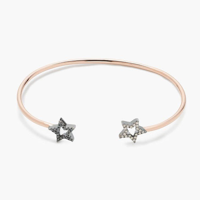Rosa de la Cruz London™ 18k gold and diamond double star bracelet