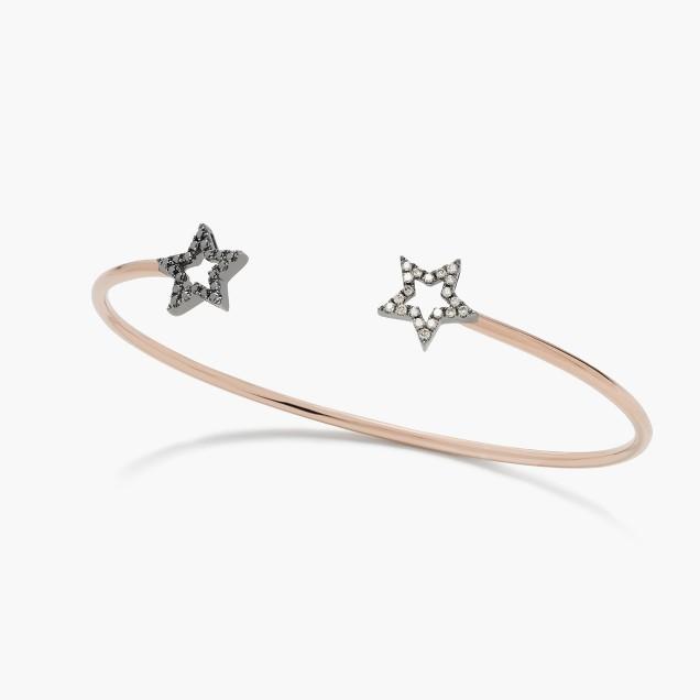 Rosa de la Cruz London™ 18k gold and diamond double star bracelet