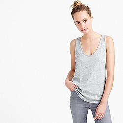 Vintage cotton tank top in metallic