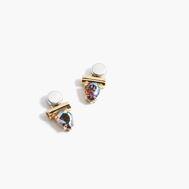 Hologram cluster earrings