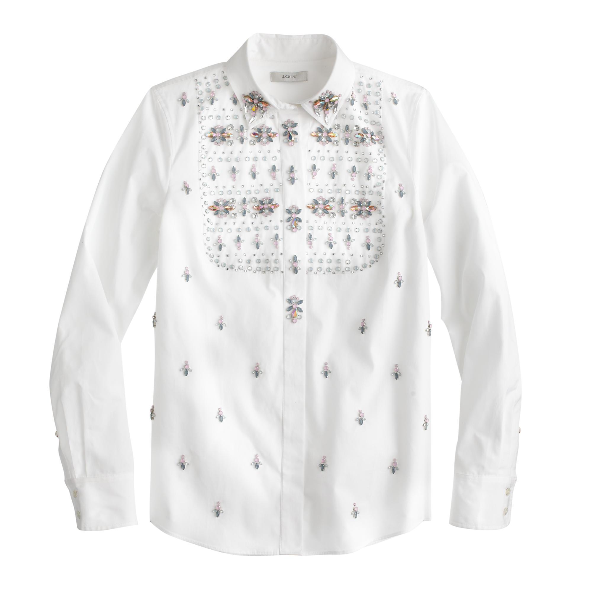 Collection thomas mason for j crew embellished shirt for Thomas mason dress shirts