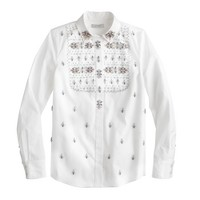 Collection Thomas Mason® for J.Crew embellished shirt