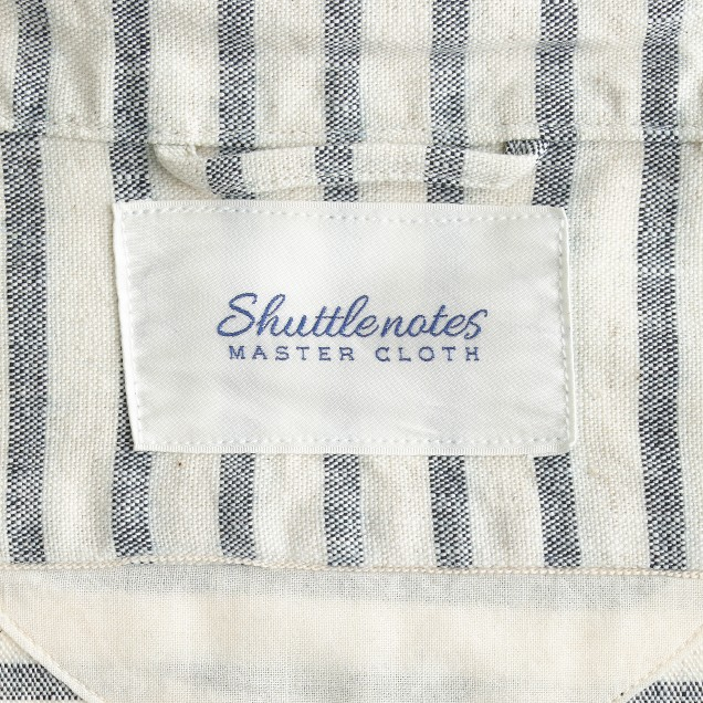 Shuttle Notes® indigo striped shirt