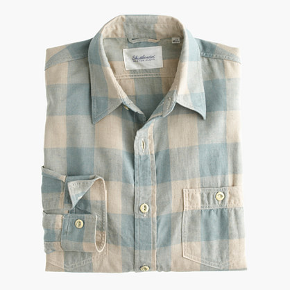 Shuttle Notes® light indigo check shirt