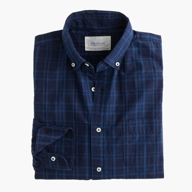 Shuttle Notes® indigo poplin shirt