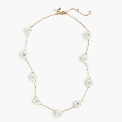 Girls' sparkle flower necklace