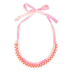 Girls' printed rope beaded necklace