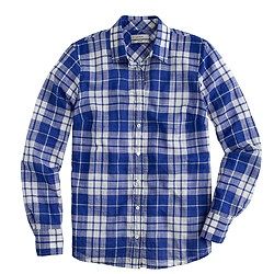 Perfect shirt in blue crinkle plaid