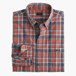 Jaspé cotton shirt in cabin plaid