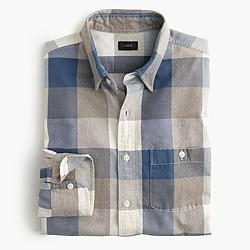 Jaspé cotton shirt in heather twig gingham