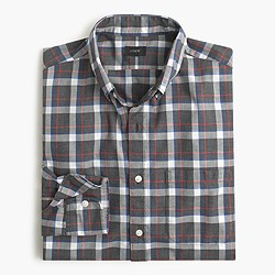 Slim Secret Wash shirt in heather red plaid