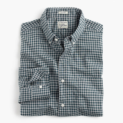Tall Secret Wash shirt in gingham