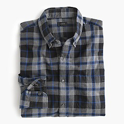 Secret Wash shirt in heather chalkboard plaid
