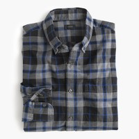 Secret Wash shirt in heather chalkboard plaid