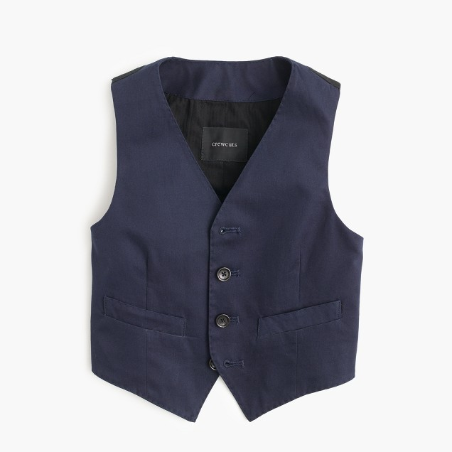 Boys' Ludlow suit vest in Italian chino