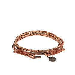 Caputo & Co.™ antiqued leather triple-wrap bracelet