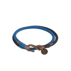 Caputo & Co.™ two-tone double-wrap bracelet