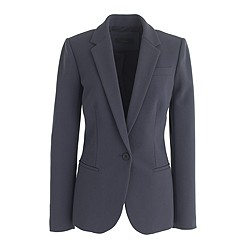 Petite single-button jacket in bonded crepe