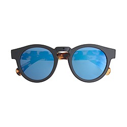 Illesteva™ for J.Crew Leonard blue mirrored sunglasses