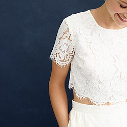 Collection floral lace cropped top