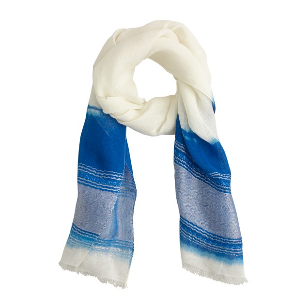Linen dip-dyed scarf