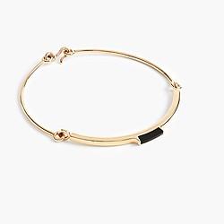 W. Britt® for J.Crew bar collar onyx necklace