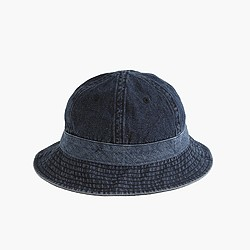 Bucket hat in denim