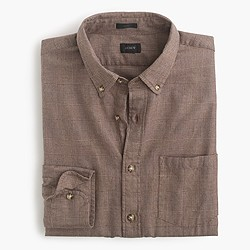 Slim brushed twill shirt in heather harvest glen plaid