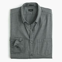 Slim brushed twill shirt in houndstooth