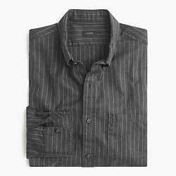 Slim brushed twill shirt in pinstripe