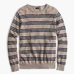 Slim cotton-cashmere sweater in triple stripe