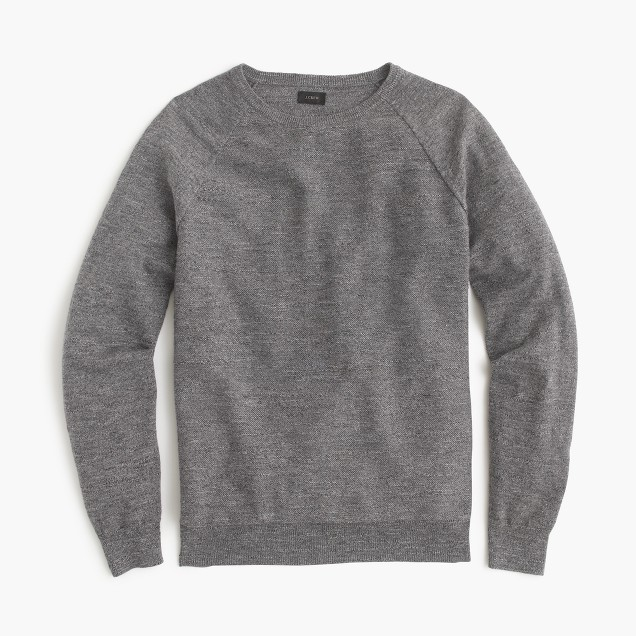 Slim rugged cotton sweater