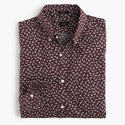 Slim Secret Wash shirt in mahogany floral