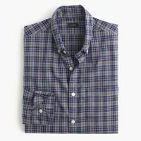 Secret Wash shirt in heather navy plaid