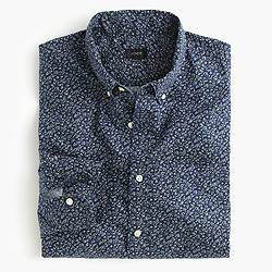 Tall Secret Wash shirt in navy floral